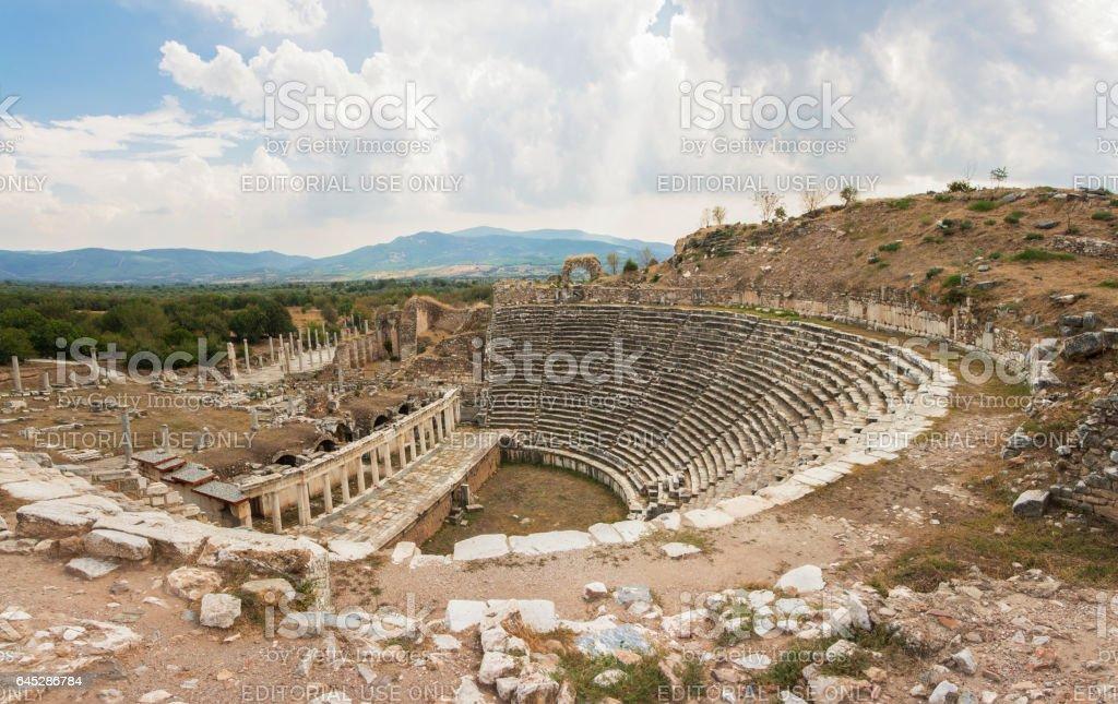 The Theater of the Aphrodisias stock photo