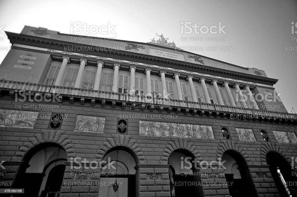 The theater 'San Carlo' of Naples (Campania, Italy) stock photo