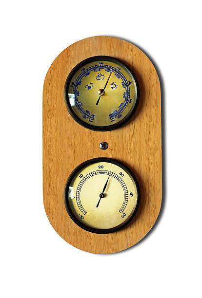 the thermometer and barometer - barometer bildbanksfoton och bilder