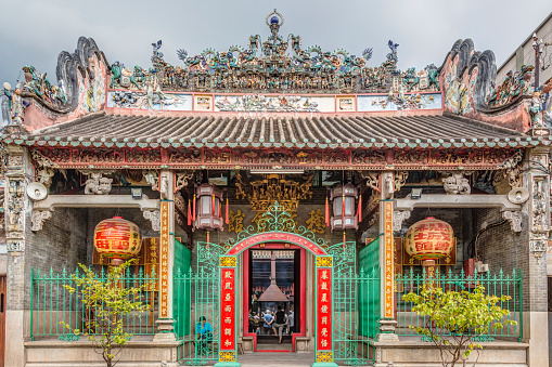 The Thien Hau Temple In Chalon Ho Chi Minh City Vietnam Stock Photo - Download Image Now