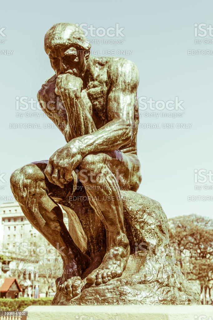 The Thinker by Rodin stock photo