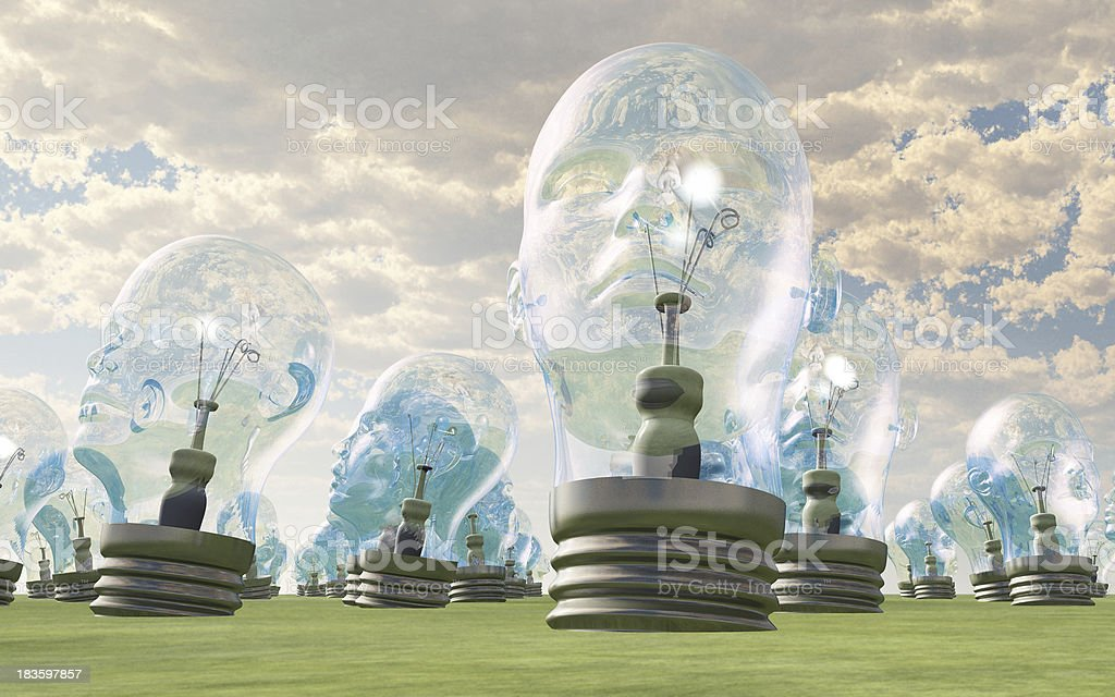 The thinkers royalty-free stock photo