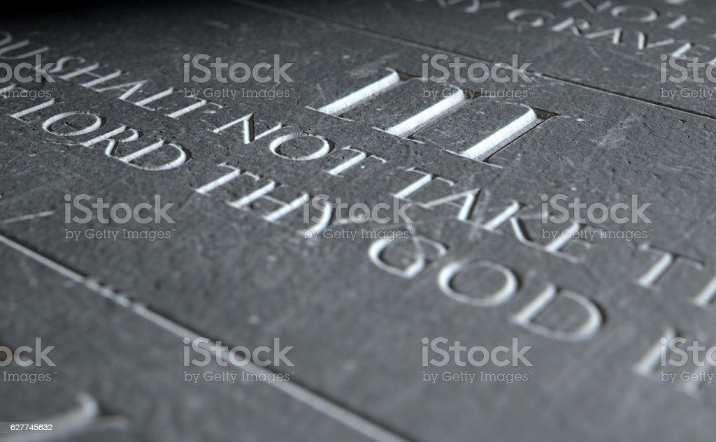 The Third Commandment stock photo