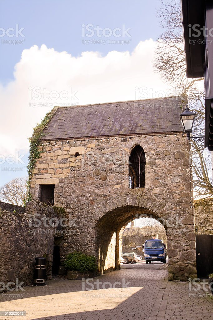 The Tholsel of Carlingford stock photo