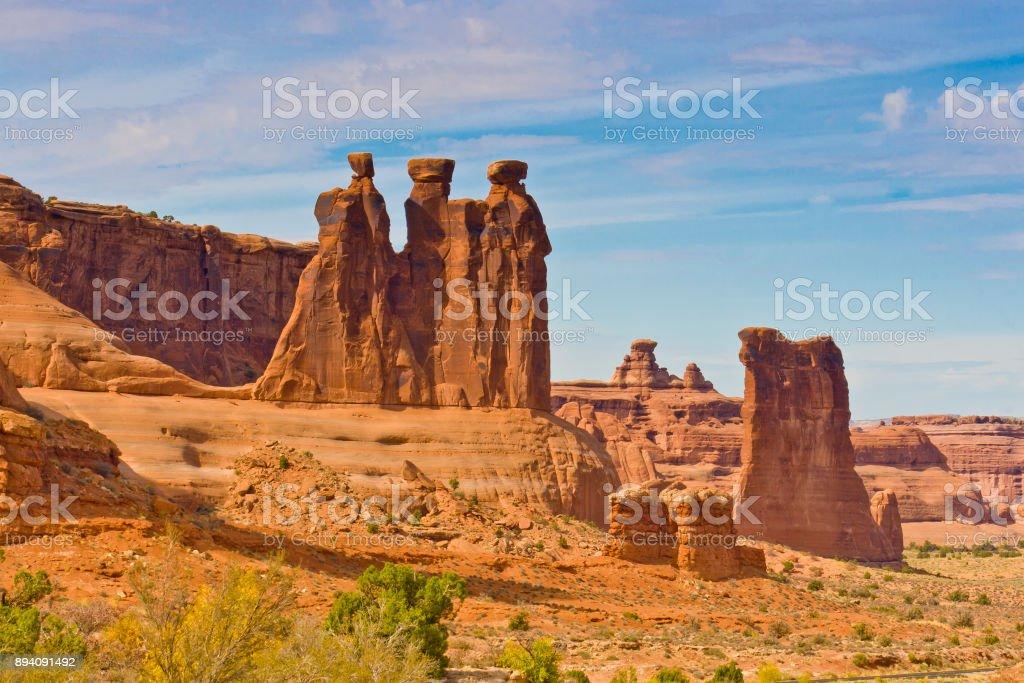 Die drei Schwätzer, Arches-Nationalpark, Utah, USA – Foto