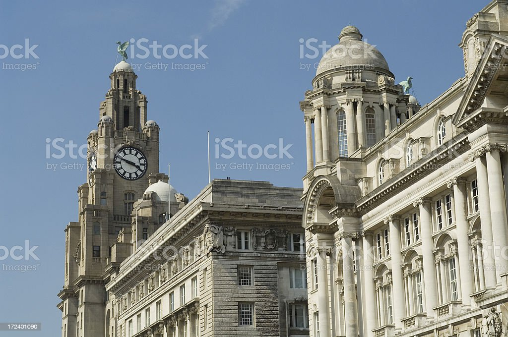 The Three Graces - Liverpool UK royalty-free stock photo