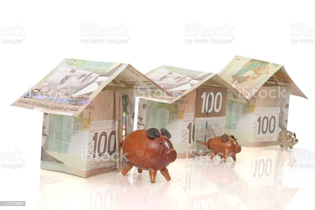 The three little pigs stock photo