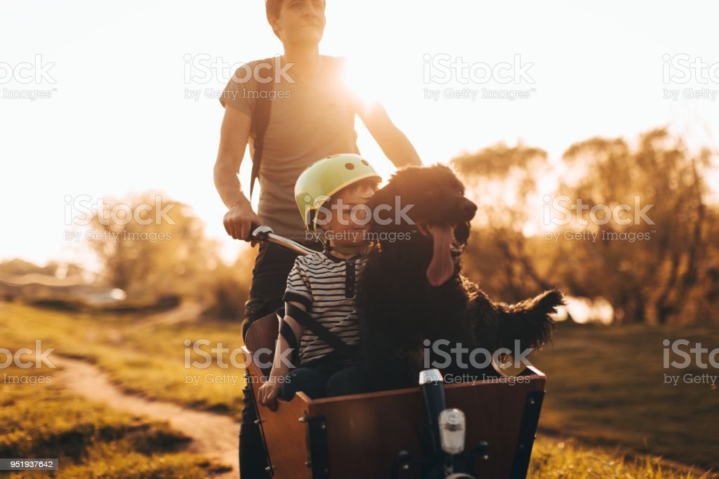 The three of us, always together stock photo