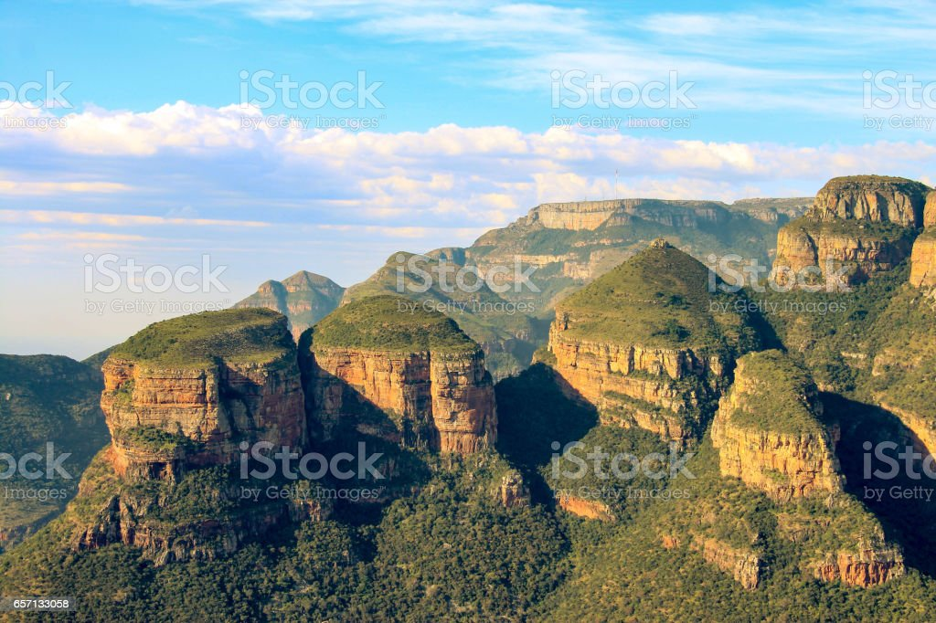 The Three Rondavels, Blyde River Canyon, South Africa stock photo