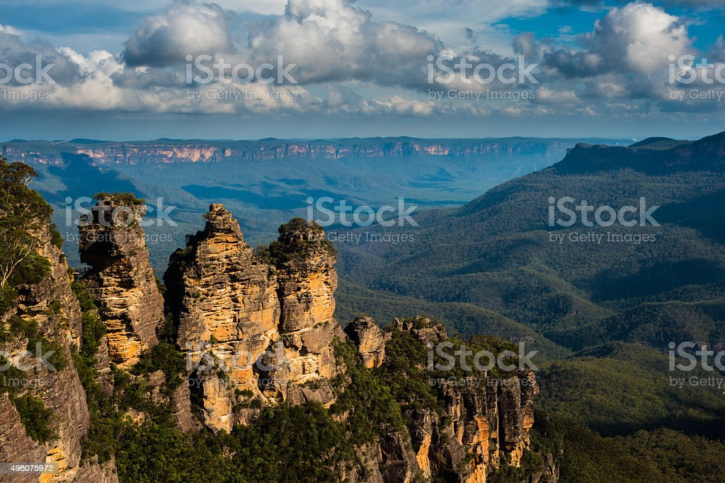 The Three Sisters, Blue Mountains, New South Wales, Australia stock photo