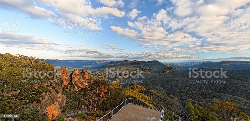 The Three Sisters lookout stock photo
