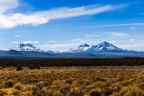 The Three Sisters The Three Sisters in central Oregon sister stock pictures, royalty-free photos & images