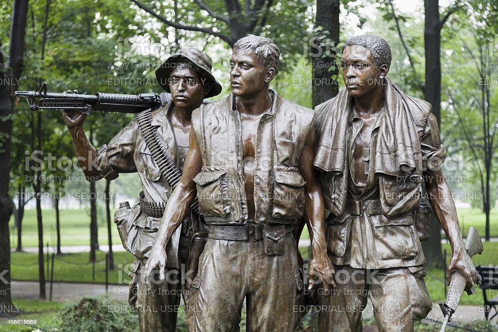 'The Three Soldiers', Vietnam Veterans Memorial, Washington DC (XXXL) royalty-free stock photo