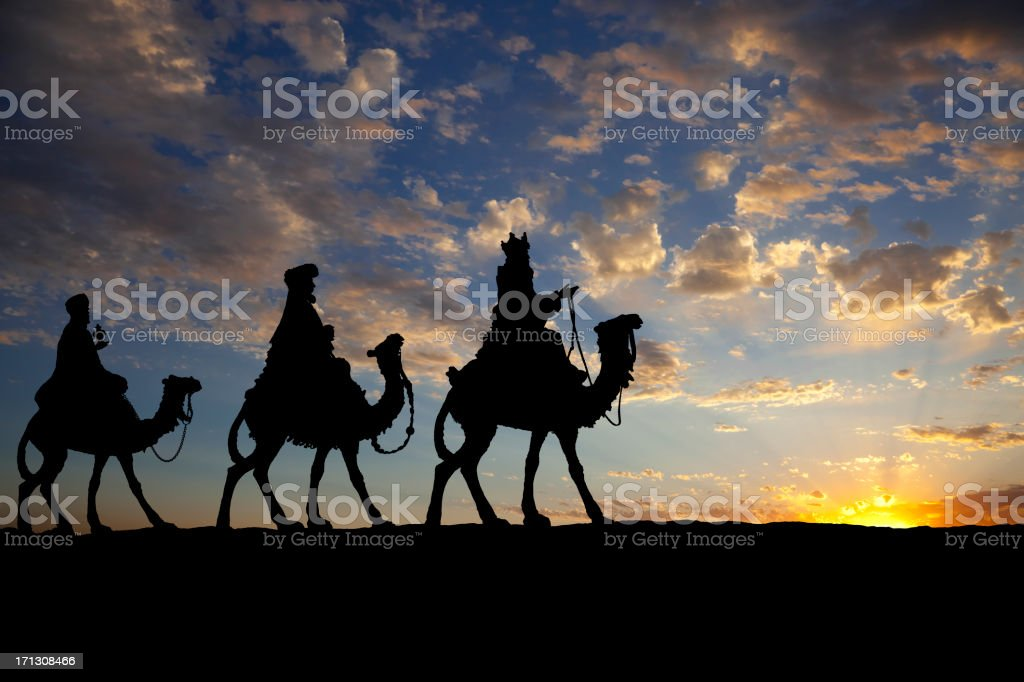 The Three Wise Men stock photo