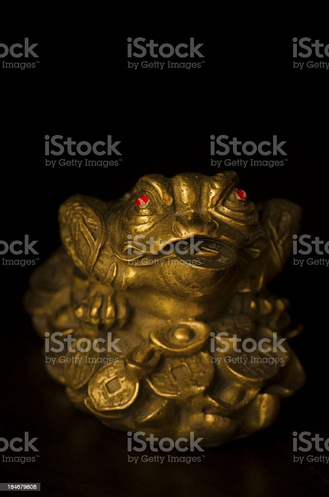 The Three-Legged Money Frog royalty-free stock photo