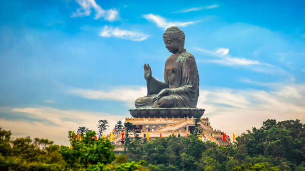 The Tian Tan Buddha in Hong Kong The Tian Tan Buddha in Hong Kong new territories stock pictures, royalty-free photos & images