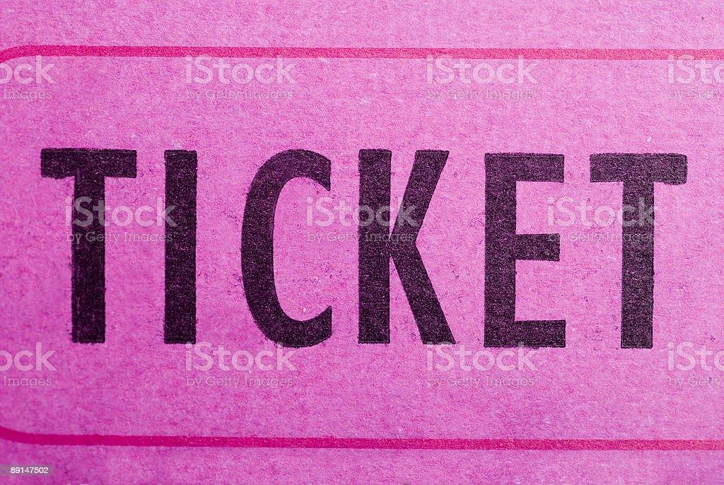 The ticket stock photo