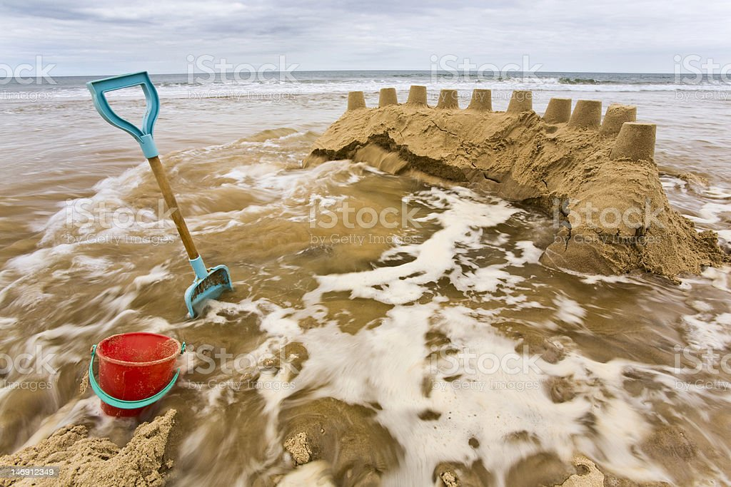 The tide coming in royalty-free stock photo