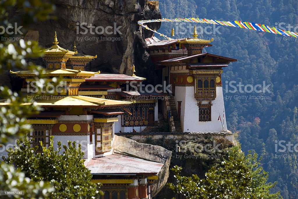 The Tiger's Nest Monastery royalty-free stock photo
