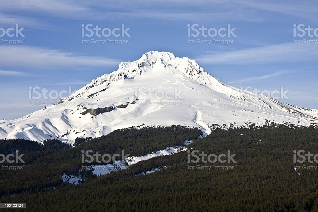 The Timberline of Mt. Hood royalty-free stock photo