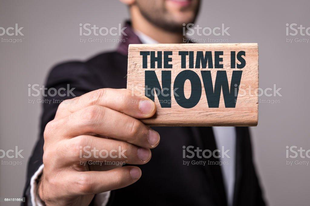 Tiden är nu! royaltyfri bildbanksbilder