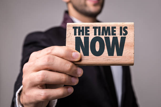 The Time is Now! stock photo