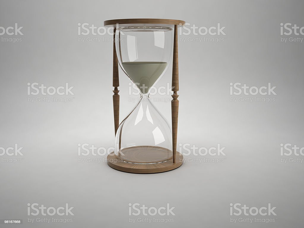 The time is passing   - hourglass royalty-free stock photo