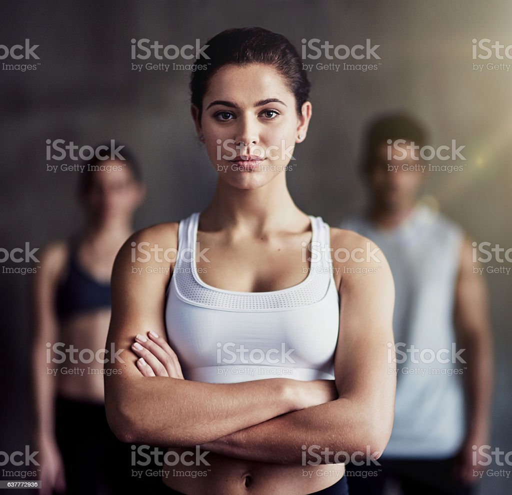 The time to get serious about fitness is now stock photo