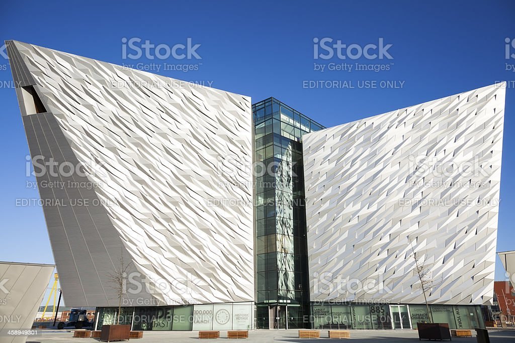 The Titanic Visitors Centre Building In Belfast Northern Ireland royalty-free stock photo