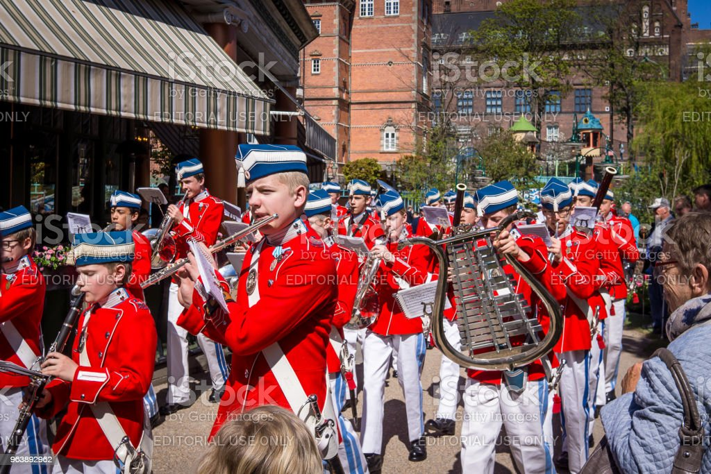 The Tivoli Youth Guard Band in red jacket - Royalty-free Capital Cities Stock Photo