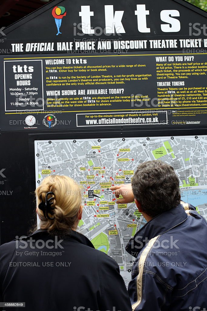 The TKTS Map of London stock photo