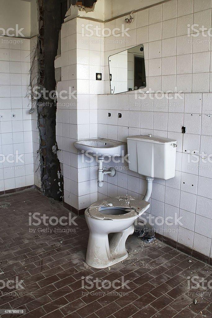 The toilet stock photo