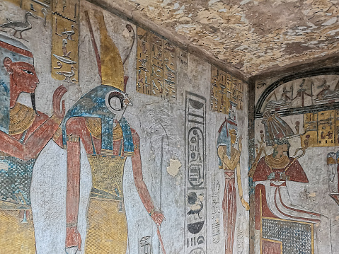 the tomb KV14, the tomb of the Egyptian pharaoh Tausert and her successor Setnakhtu, Valley of the Kings.