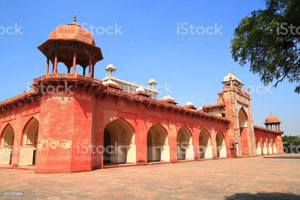 The Tomb of Akbar stock photo