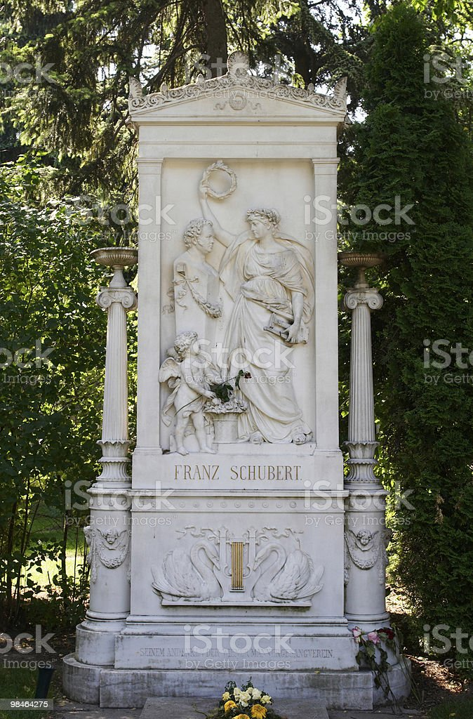 The tomb of Franz Schubert. royalty-free stock photo