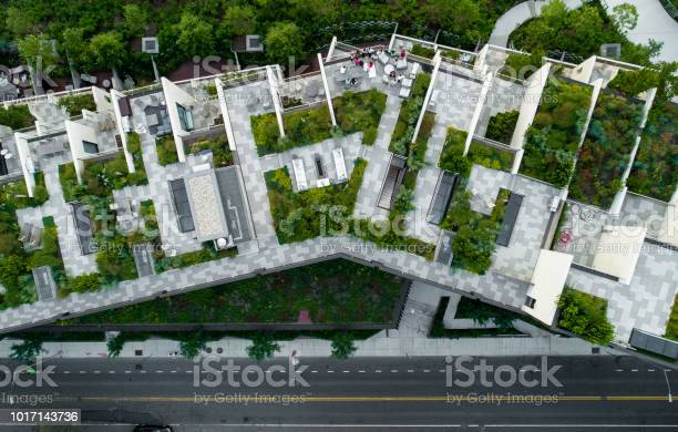 The top directly above view to the modern rooftops with gardens in picture id1017143736?b=1&k=6&m=1017143736&s=612x612&h=coepimvuoshkananzm5idejkex7rnvu1brdibmo qbc=