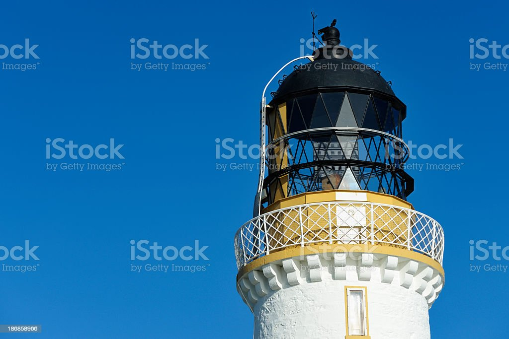 The top of a Scottish lighthouse royalty-free stock photo