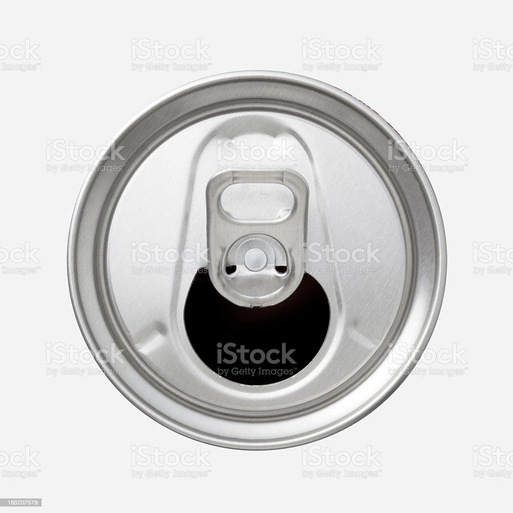 Aluminium Getränkedose top mit ring pull – Foto