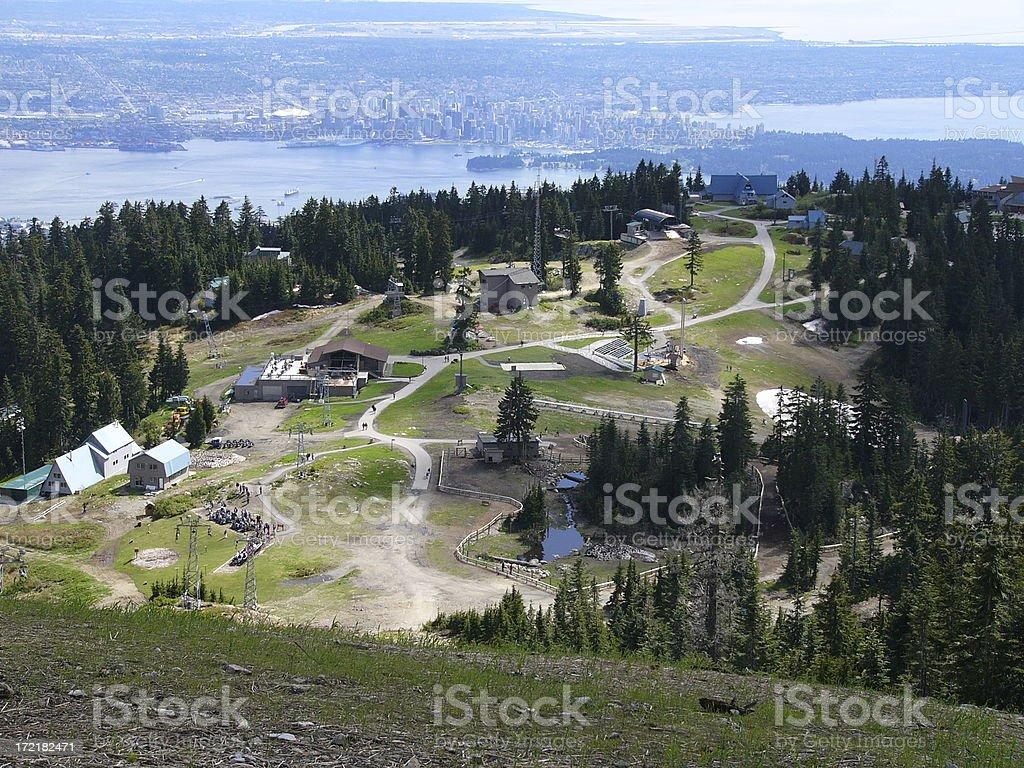 Den Gipfel von Grouse-Berg. – Foto