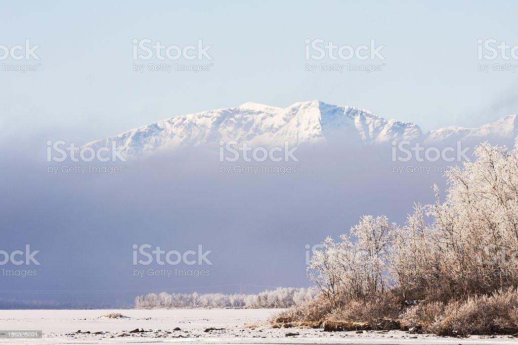 The top of mount Kebnekaise stock photo