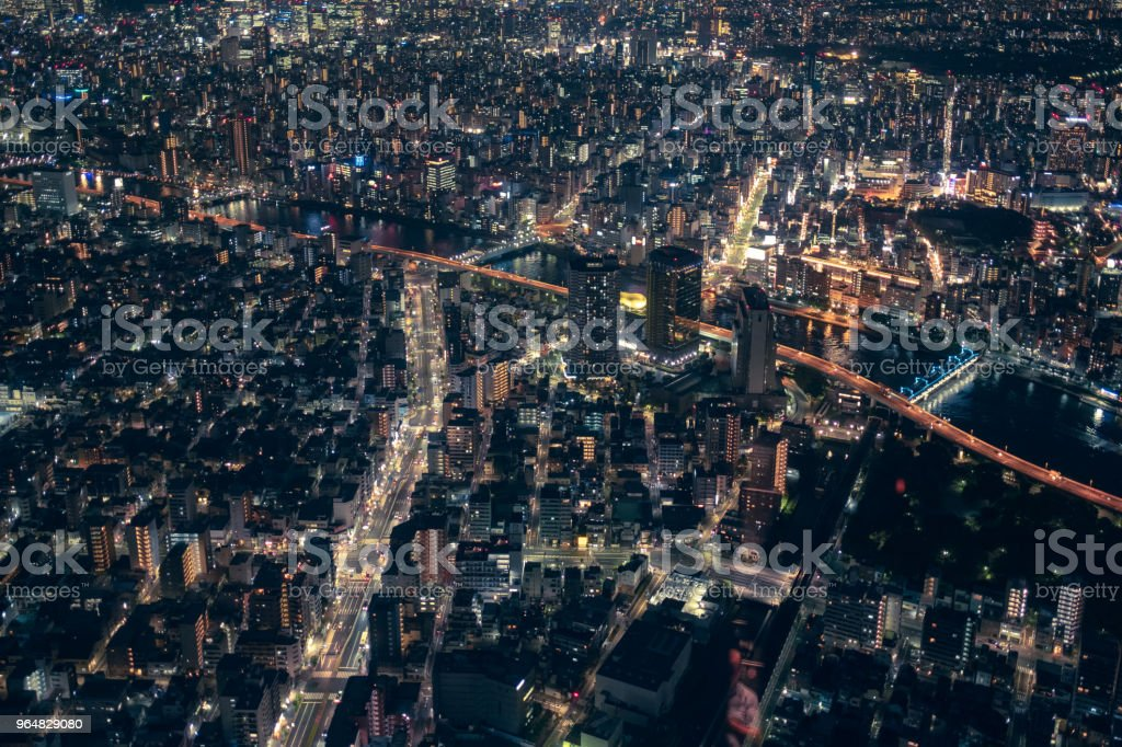 The top viewing platform of the Tokyo Skytree royalty-free stock photo