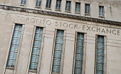 The Toronto stock exchange building (TSX).