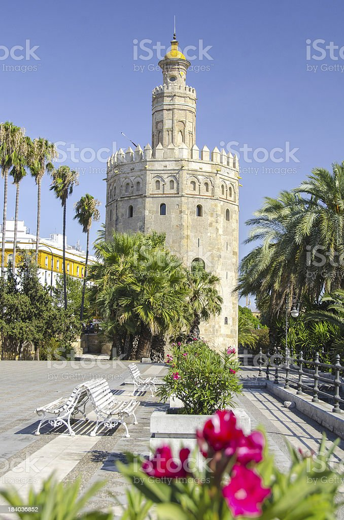 The Torre del Oro royalty-free stock photo