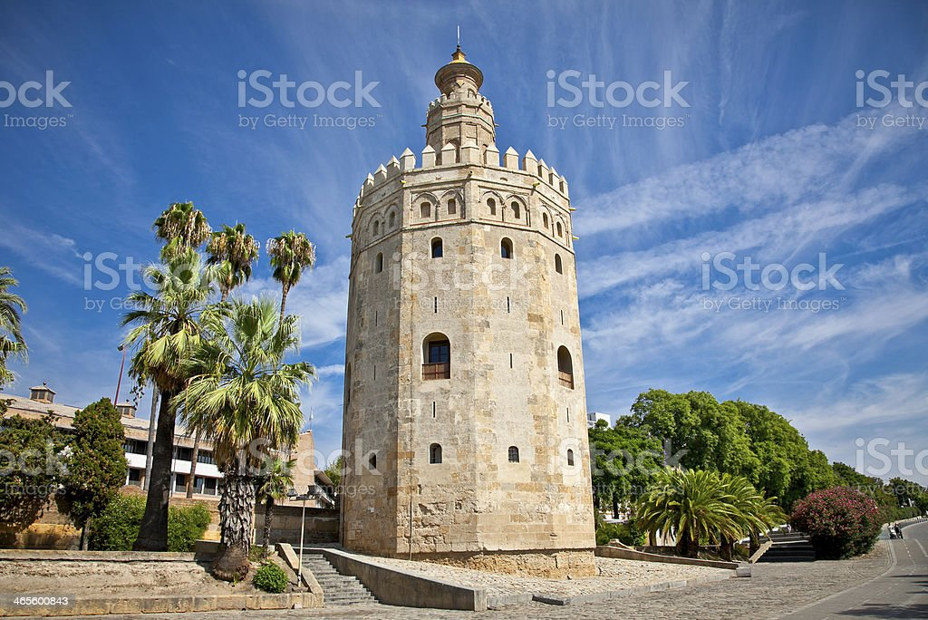 The Torre del Oro (Gold Tower), Seville, Spain royalty-free stock photo