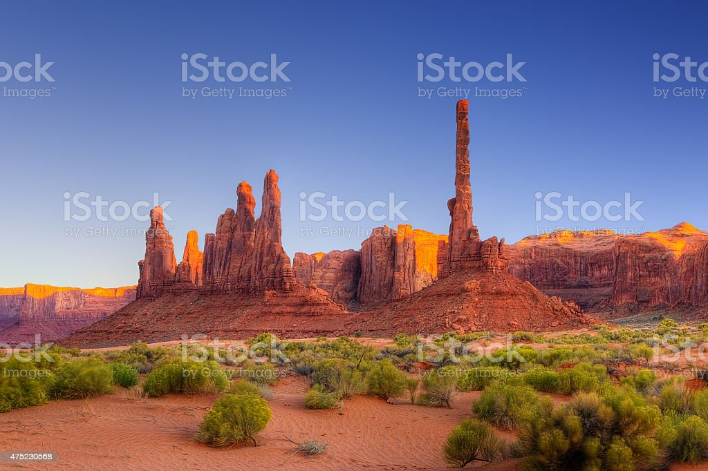 The Totem Pole stock photo
