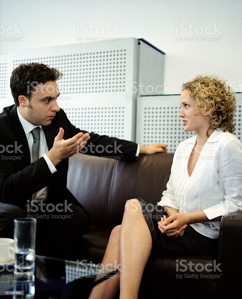 The Tough Interview royalty-free stock photo