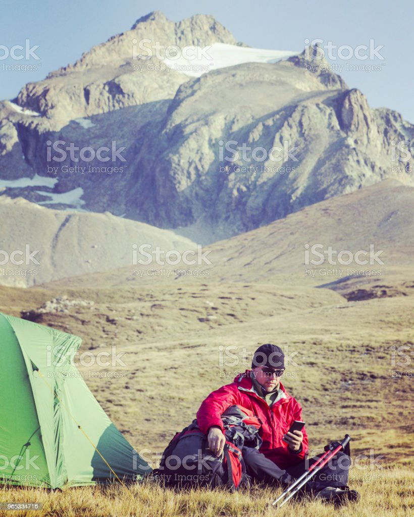 The Tour du Mont Blanc is a unique trek of approximately 200km around Mont Blanc that can be completed in between 7 and 10 days passing through Italy, Switzerland and France. royalty-free stock photo