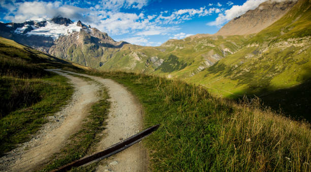 The Tour du Mont Blanc Trail stock photo