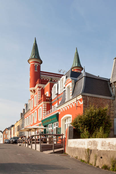 The Tourelles Hotel in Le Crotoy stock photo