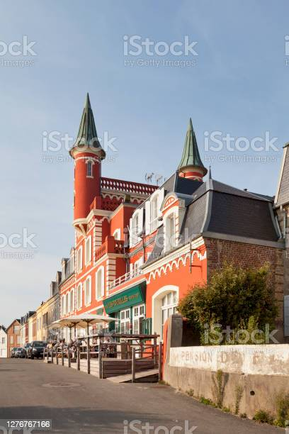 The Tourelles Hotel In Le Crotoy Stock Photo - Download Image Now